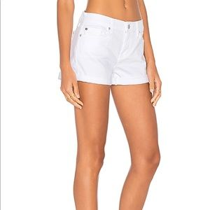 [7 For All Mankind] White Jean Roll Up Short 28
